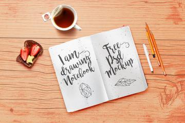 Artistic Notebook Mockup