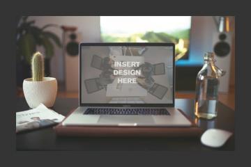 Realistic Macbook Pro Mockup