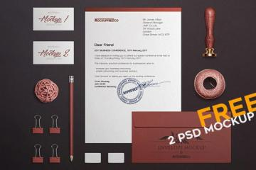 Craft Stationery Mockup Set
