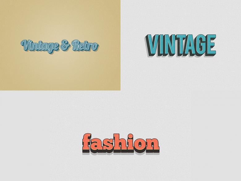 Vintage Layer Styles