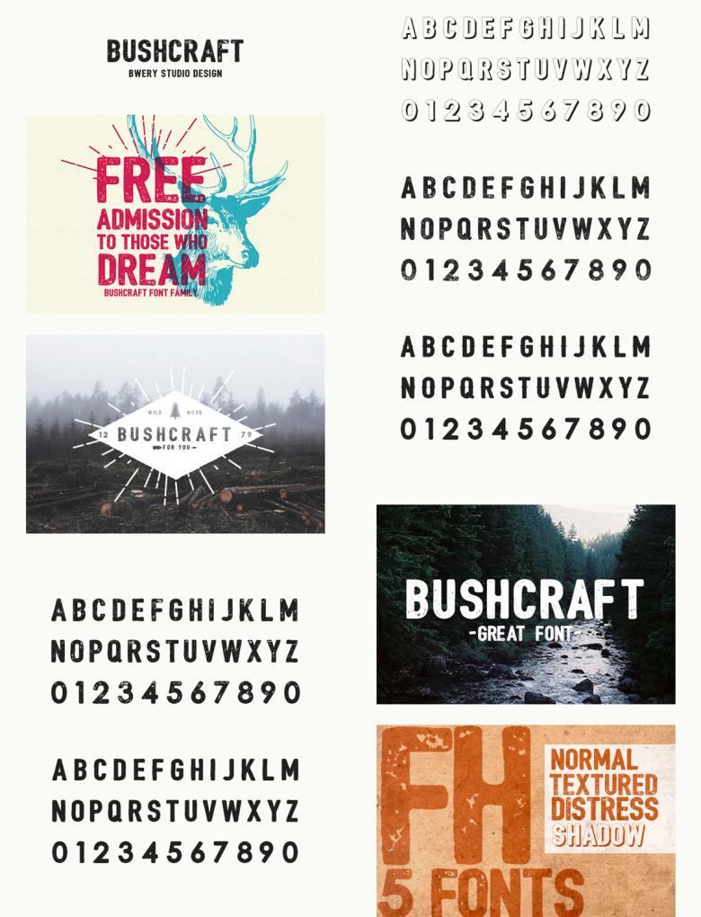 Bushcraft Font Family