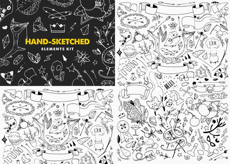 The Hand-Sketched Elements Kit