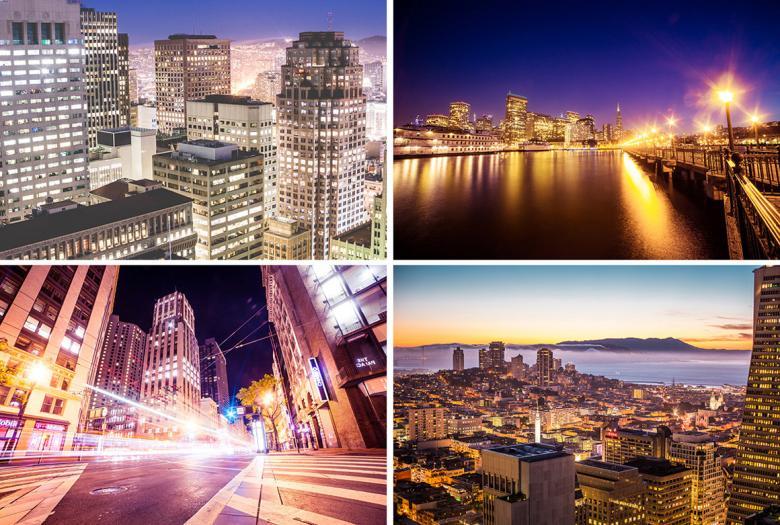 San Francisco At Night: 4 Free Photos