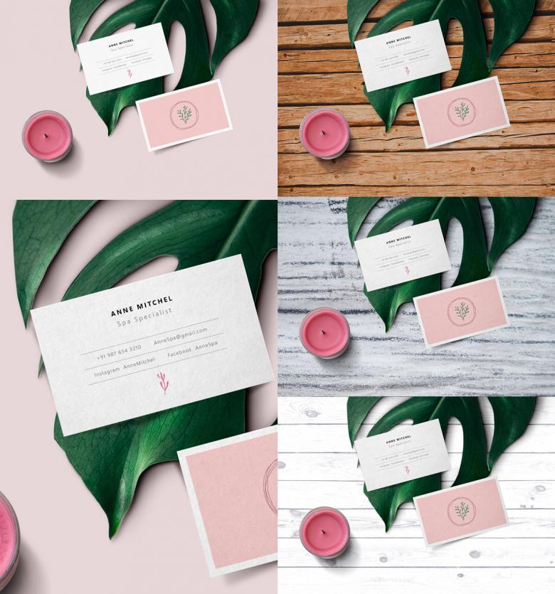 Feminine Business Card Mockup | The Creative Feed