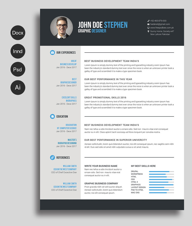 Free Resume & Cover Letter Templates