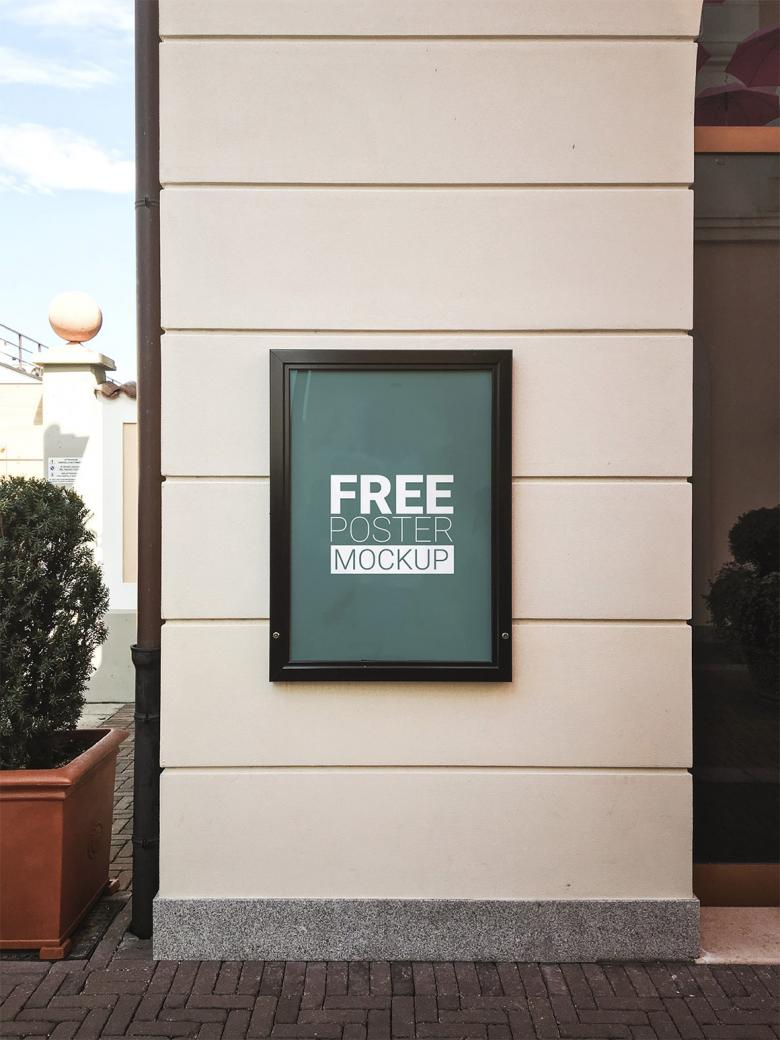 Free 60x40cm Poster Mock-Up
