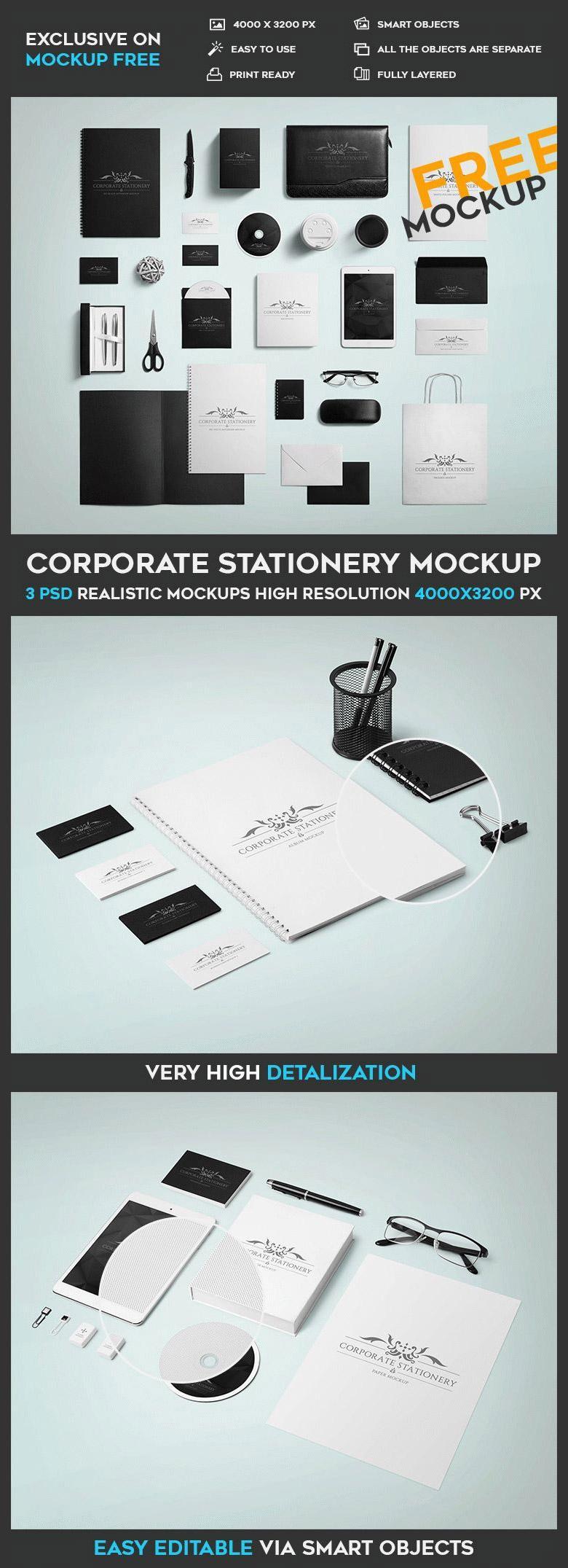 Corporate Stationery Mockup Set