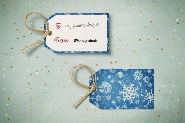 Make a Super Easy Custom Christmas Gift Tag in Photoshop