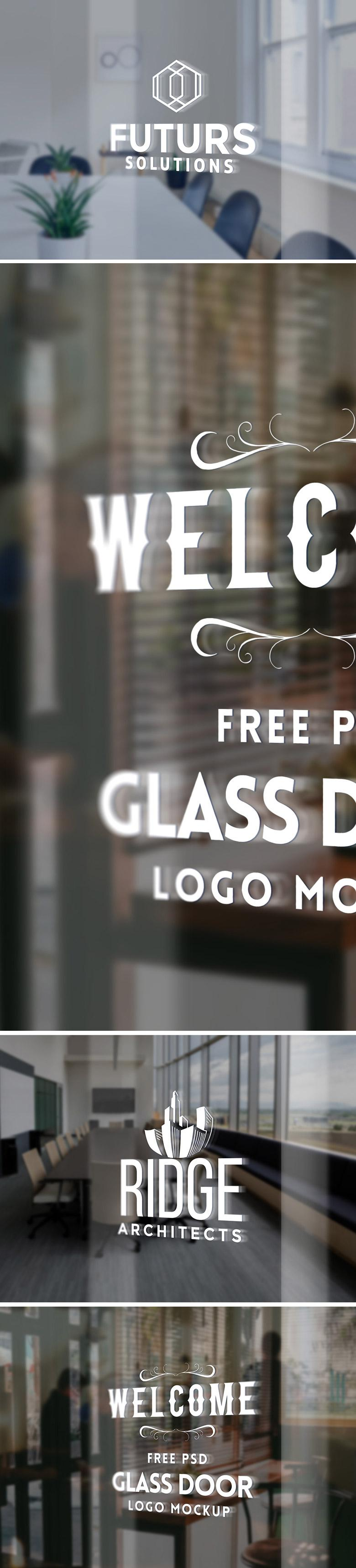 Glass Door Logo Mockup