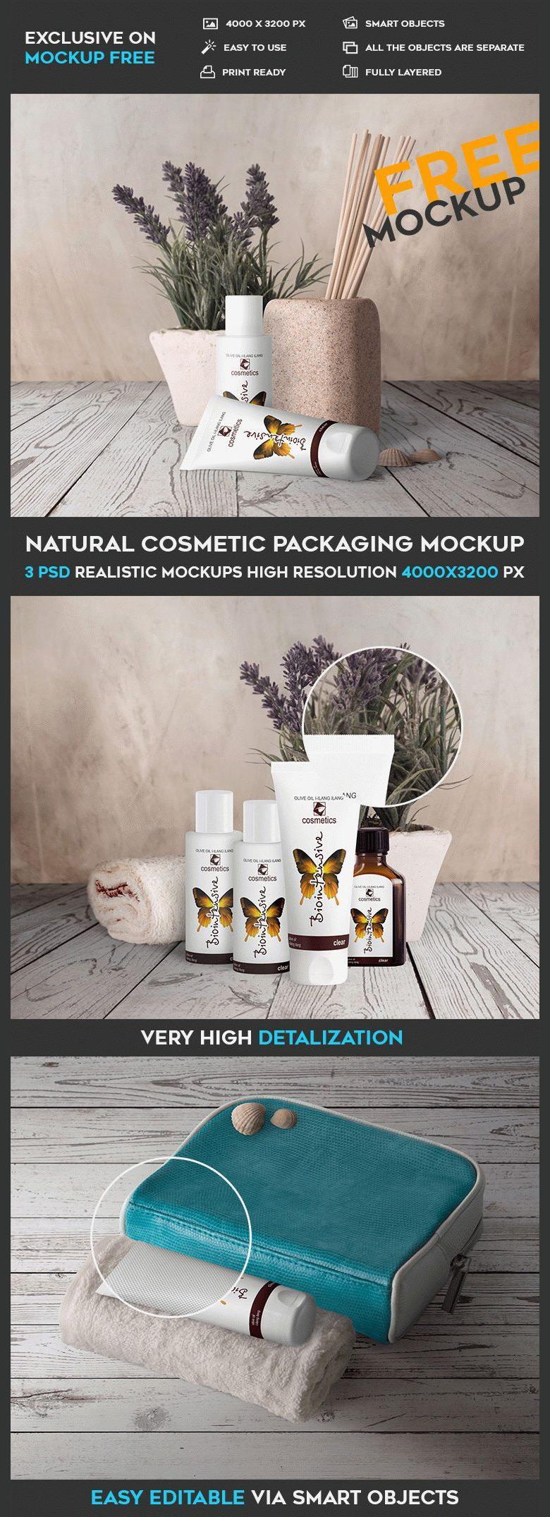 Natural Cosmetic Packaging Mockup Set