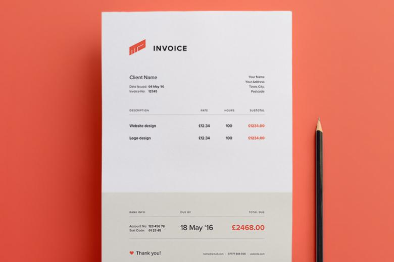 Clean Illustrator Invoice Template