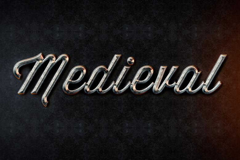 Metal Medieval Text Effect