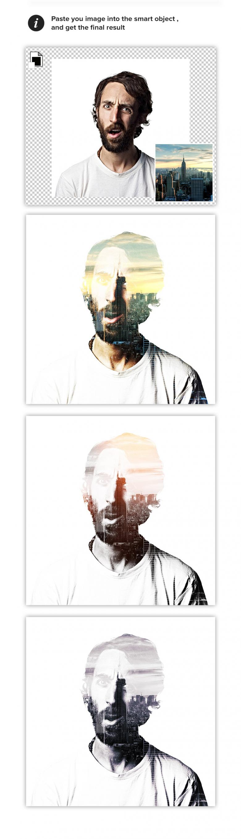 Double Exposure Maker PSD Template