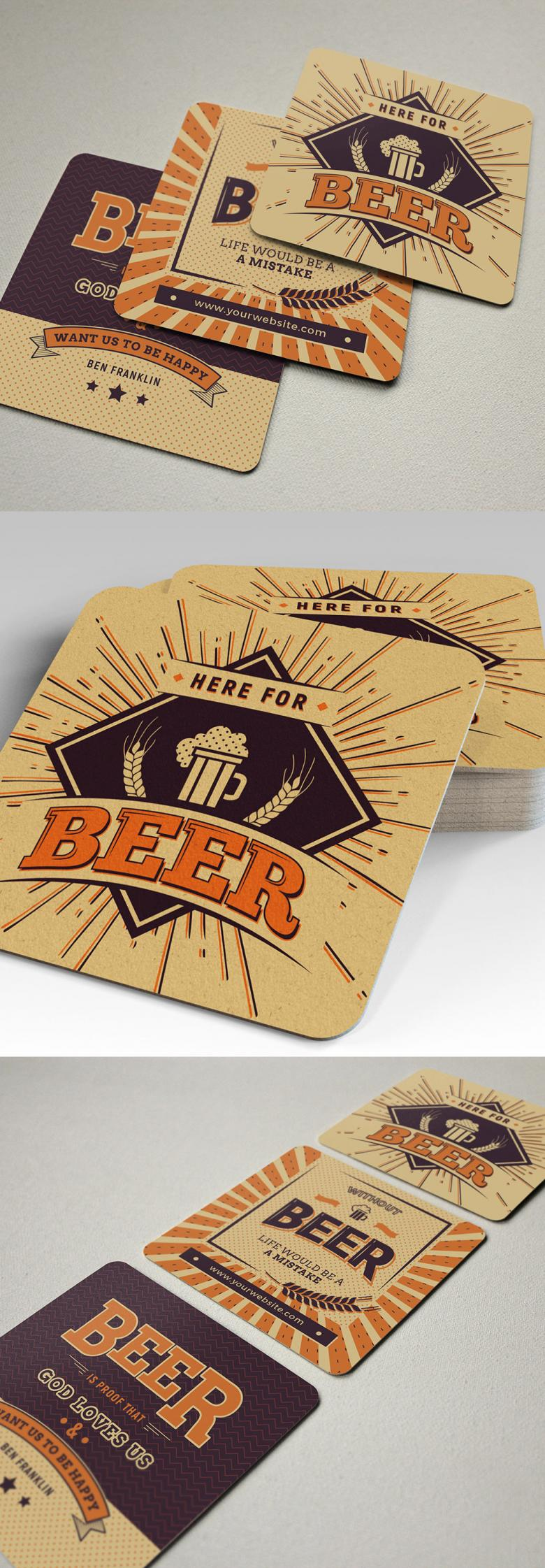 3 Beer Coaster Templates