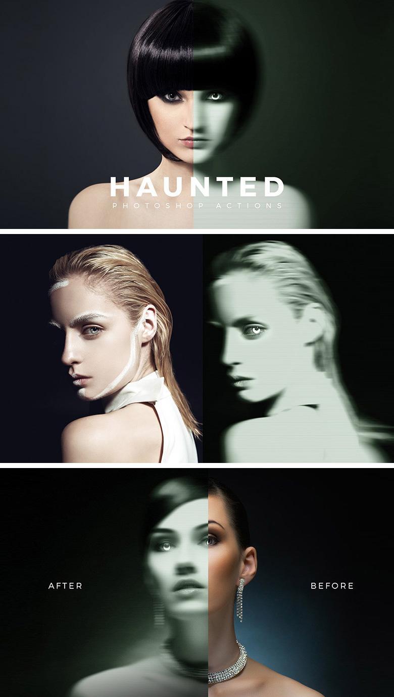 Haunted Photoshop Action
