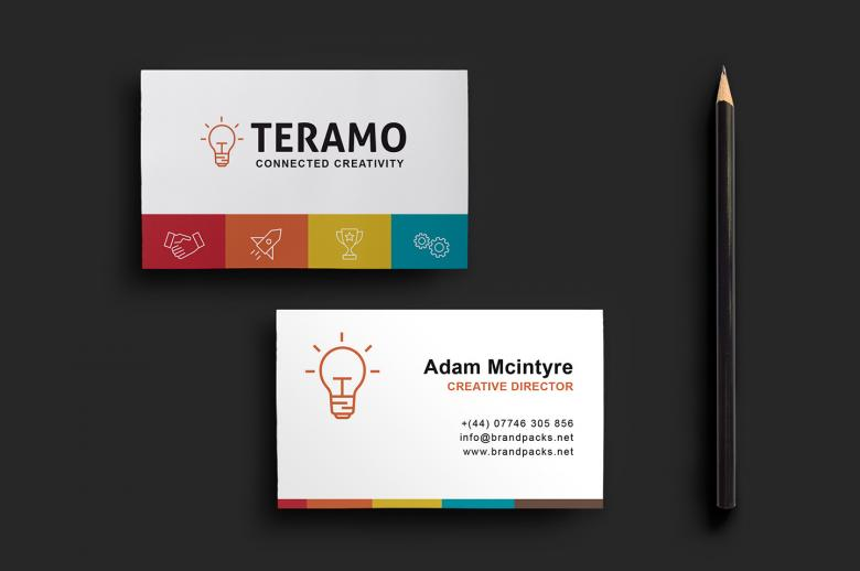Clean and Professional Double Sided Business Card Template