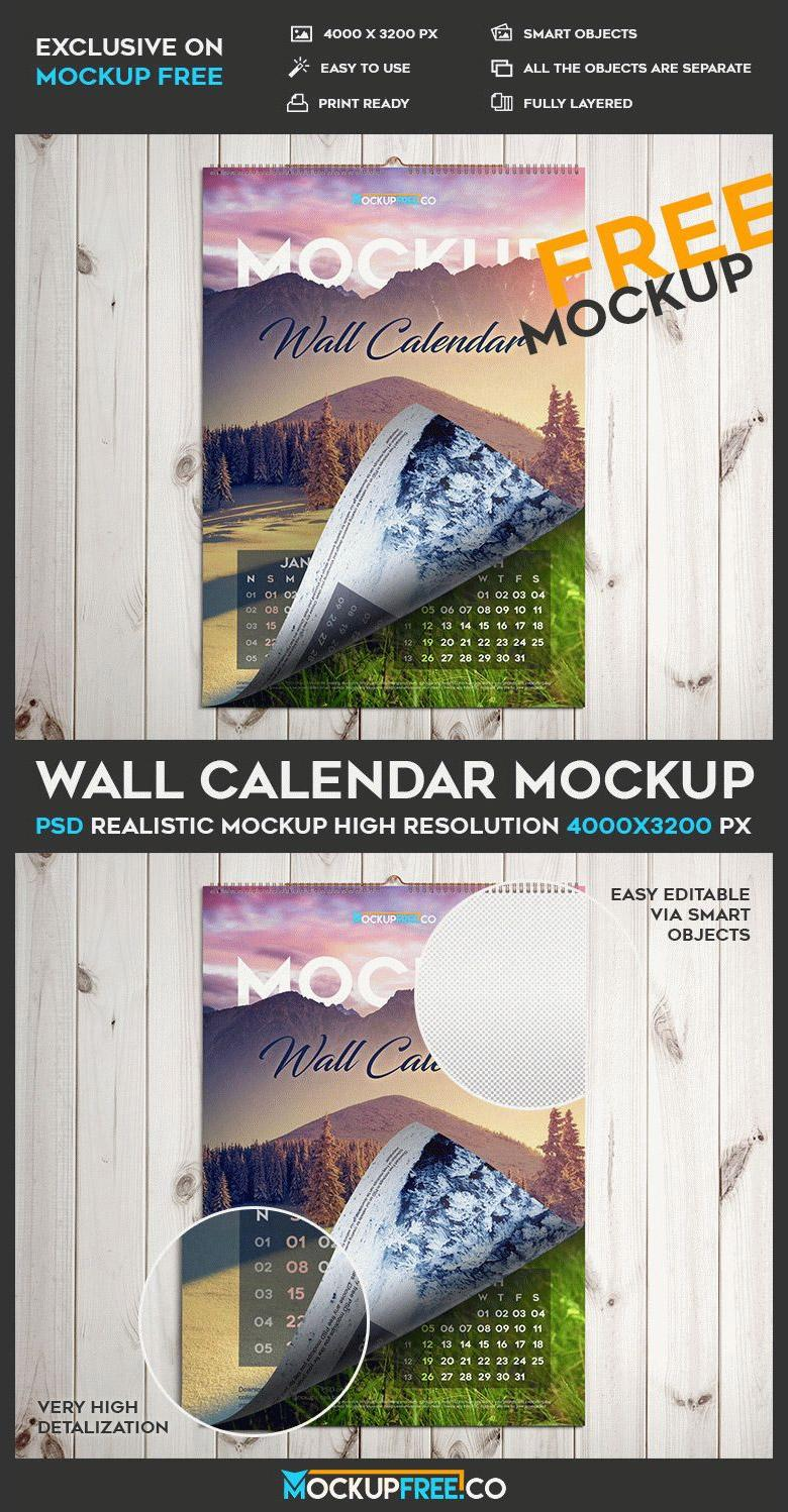 hanging wall calendar mockup the creative feed