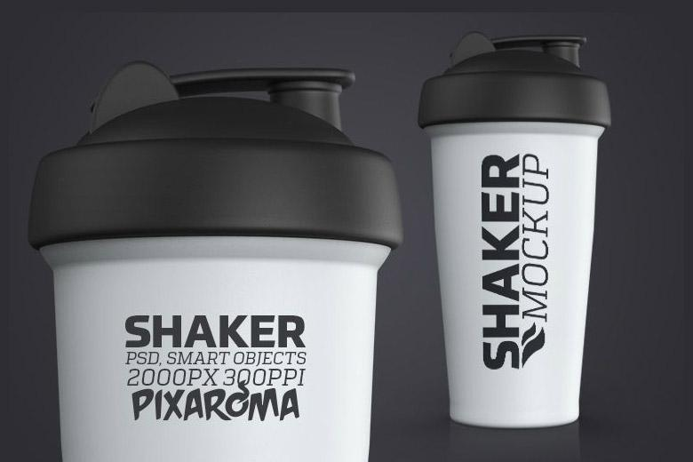 Protein Shaker Cup Mockup