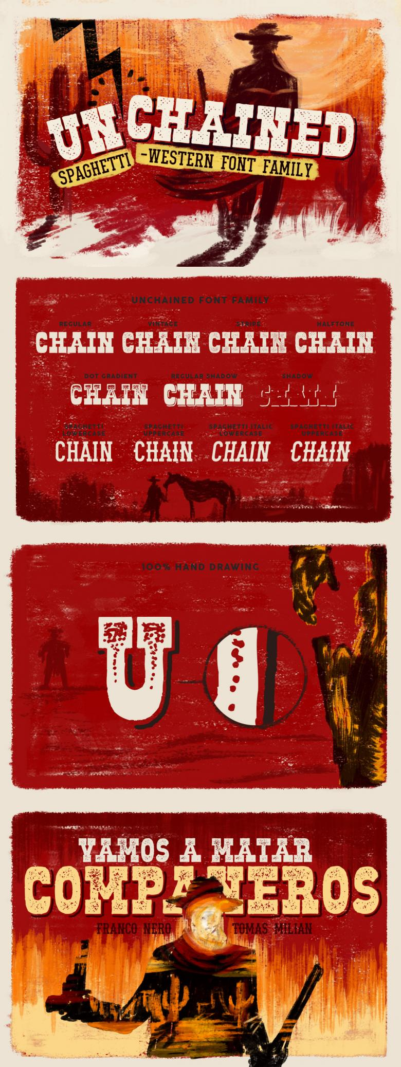 Unchained Font Family