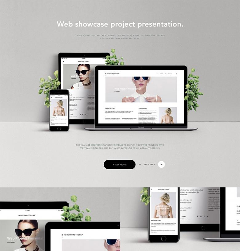 Website Showcase PSD Mockup