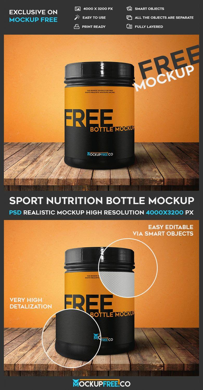 Sports Nutrition Container Mockup