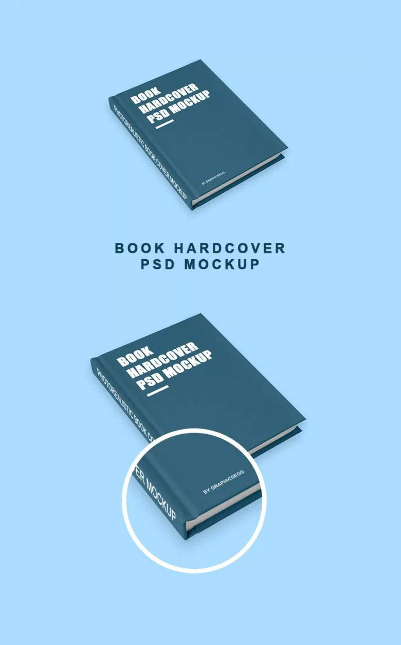 Simple Hardcover Book Mockup