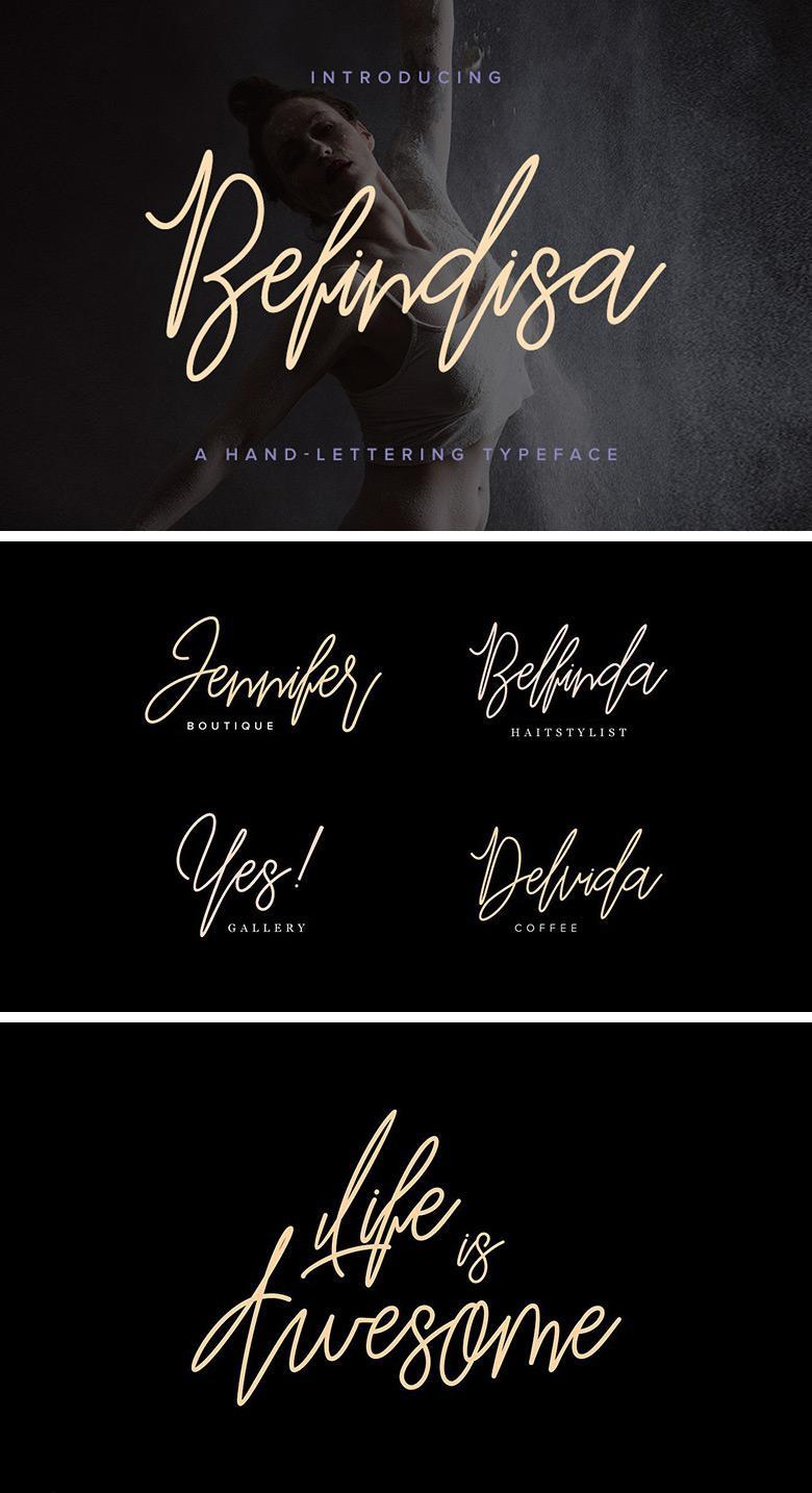 Befindisa Monoline Script Font