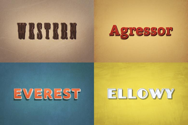 Retro Style Text Effects