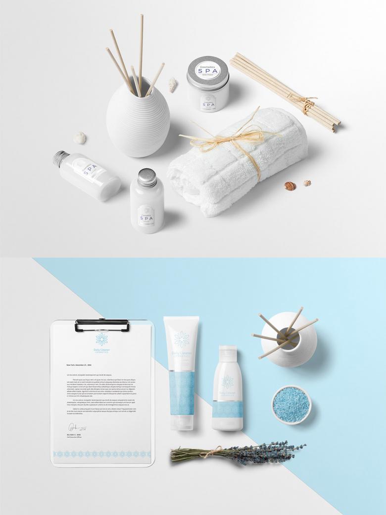 Cosmetics Scene Creator Mockup Set