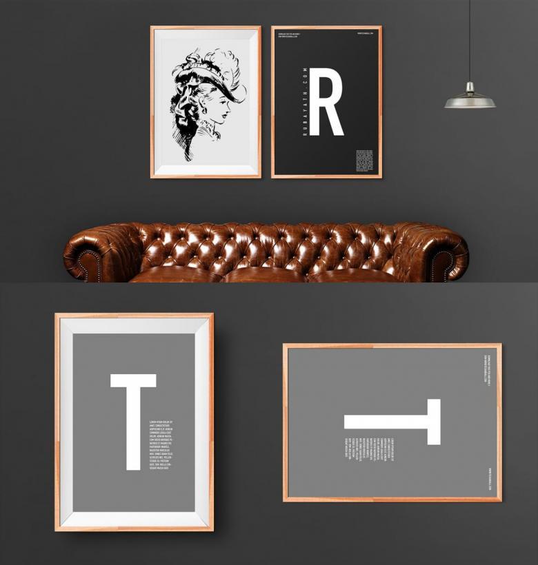 Wooden Art Frame Mockup Set