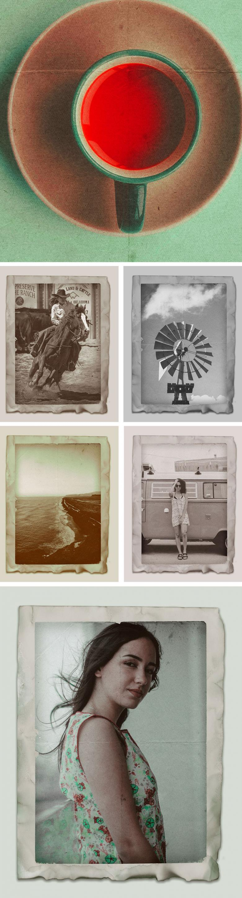 Vintage Photo Effects Template