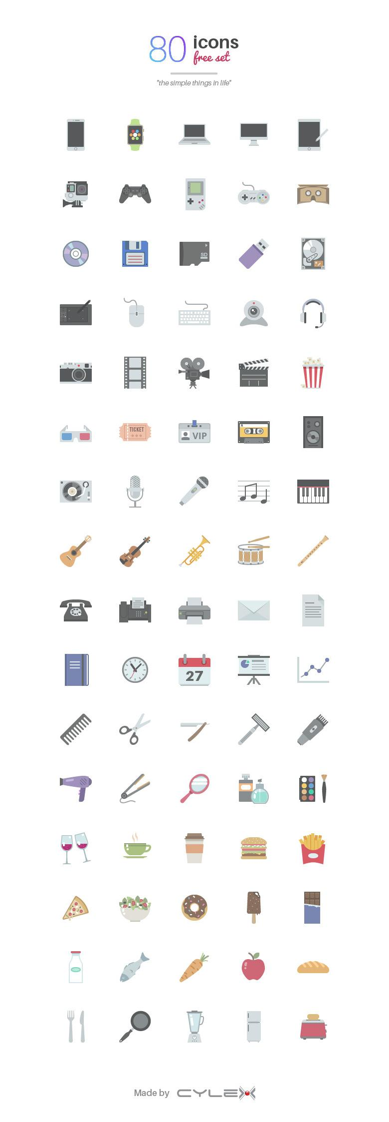 Simple Things in Life 80 Icon Set