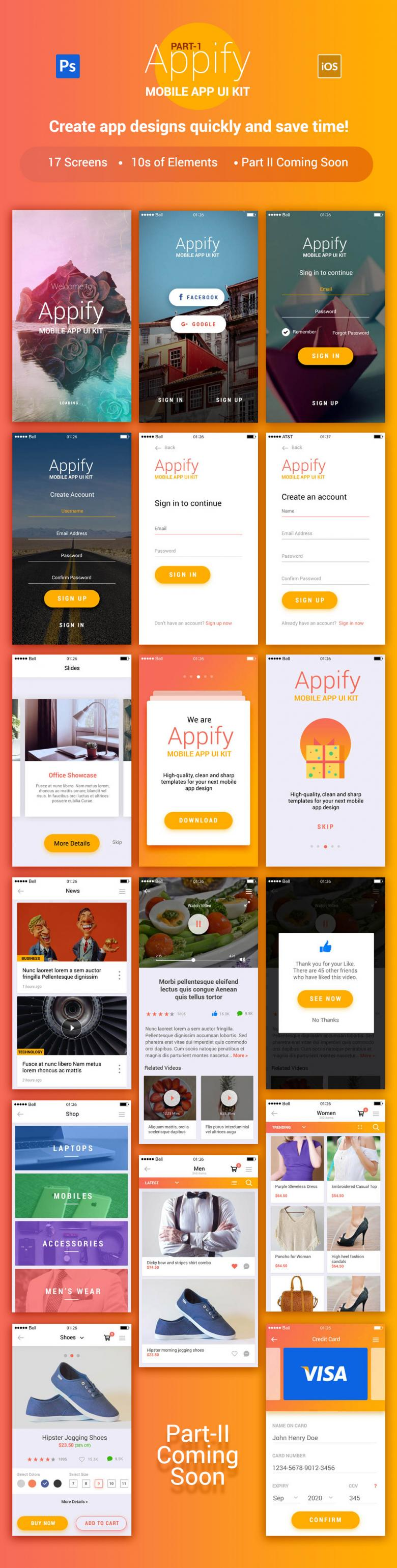 Appify Mobile UI Kit