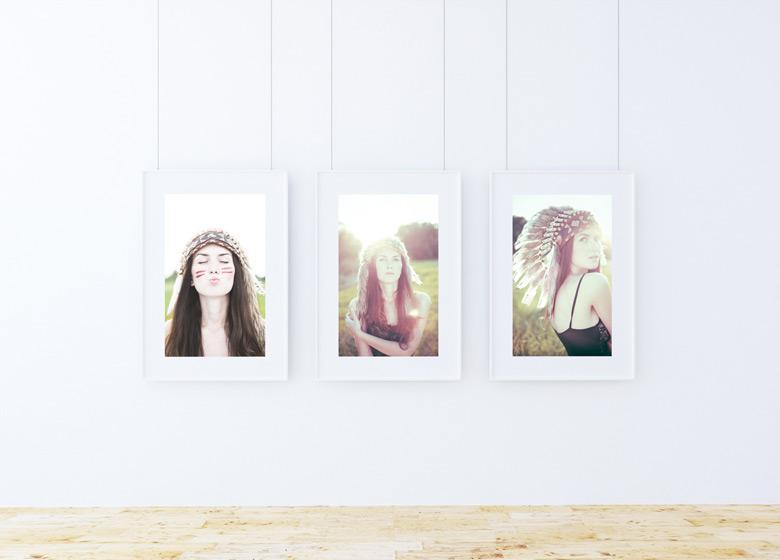 Triple Frame Poster Mockup