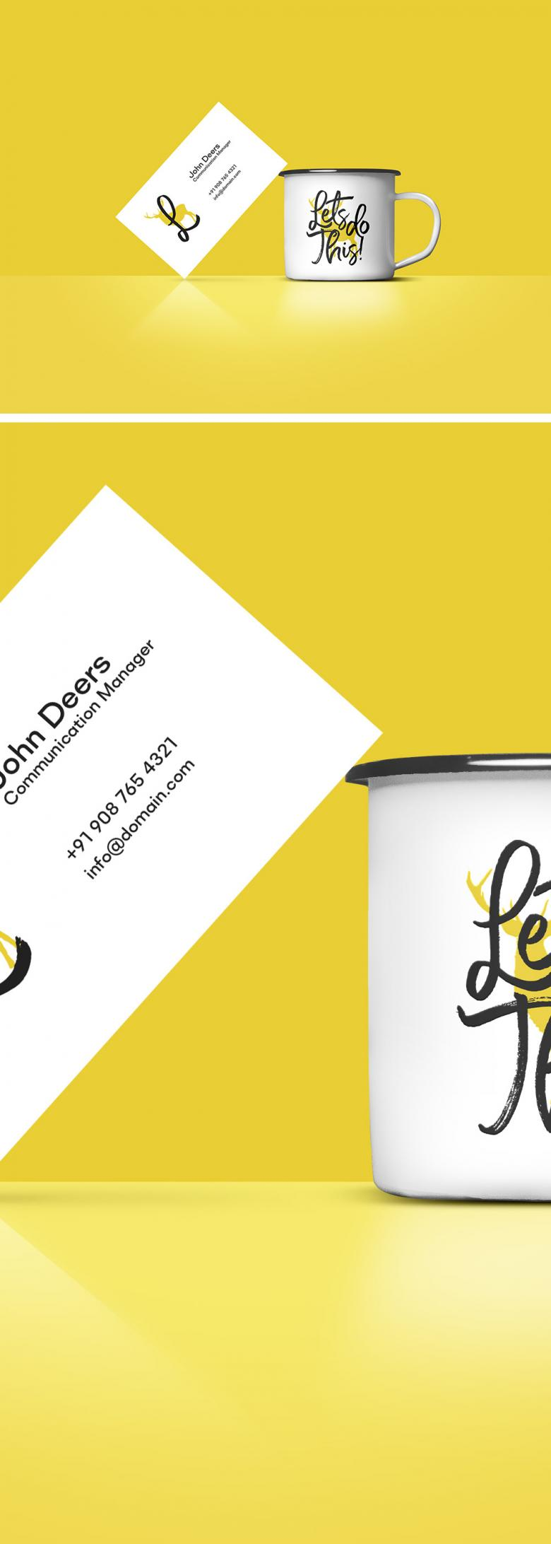 Business Card and Coffee Mug Mockup