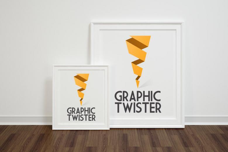Double Front Framed Poster Mockup