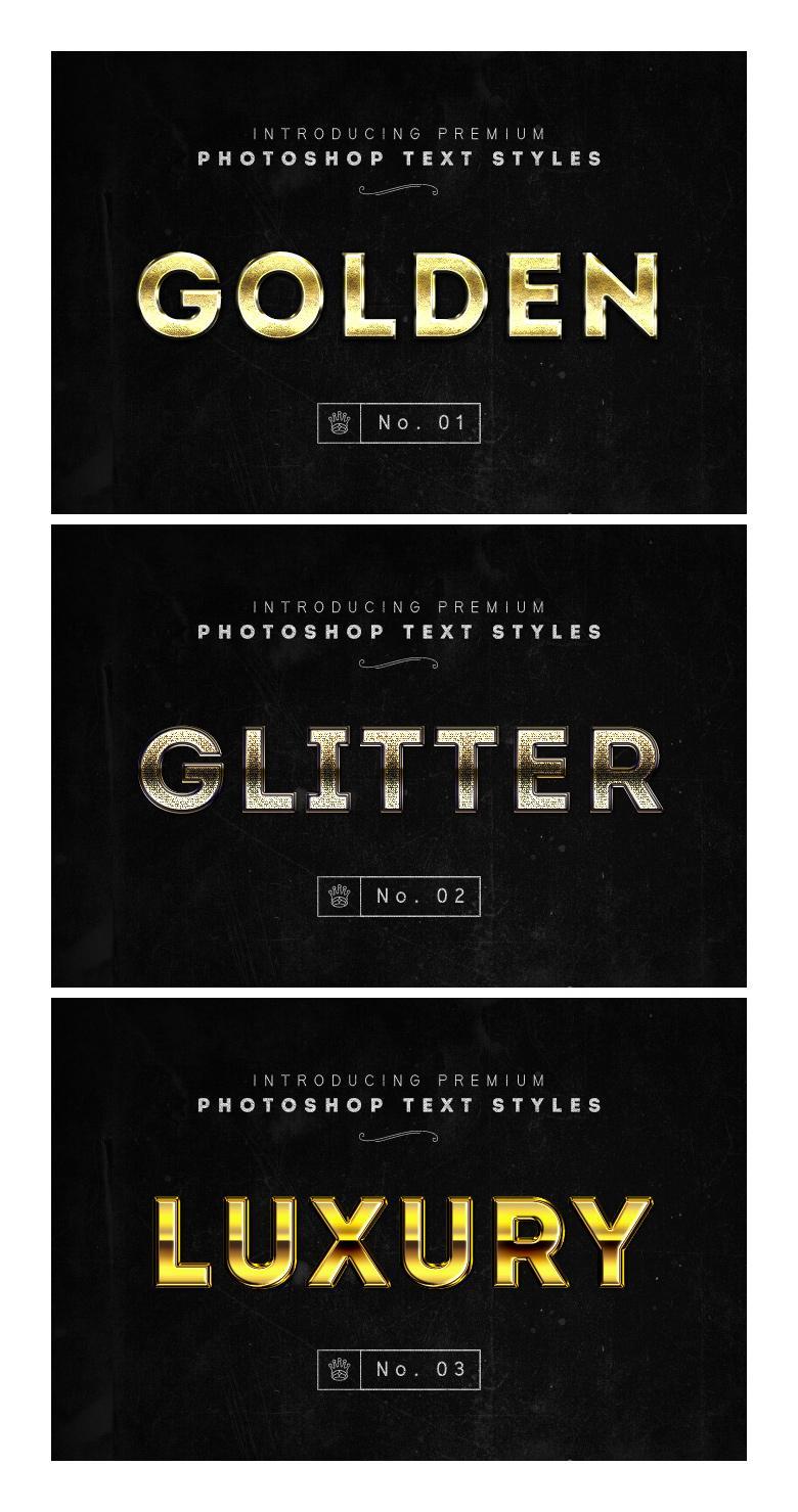 3 Golden Photoshop Layer Styles