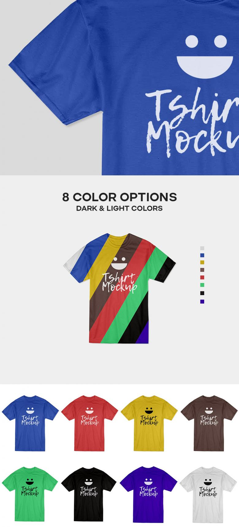 Cotton T-Shirt Mockup PSD
