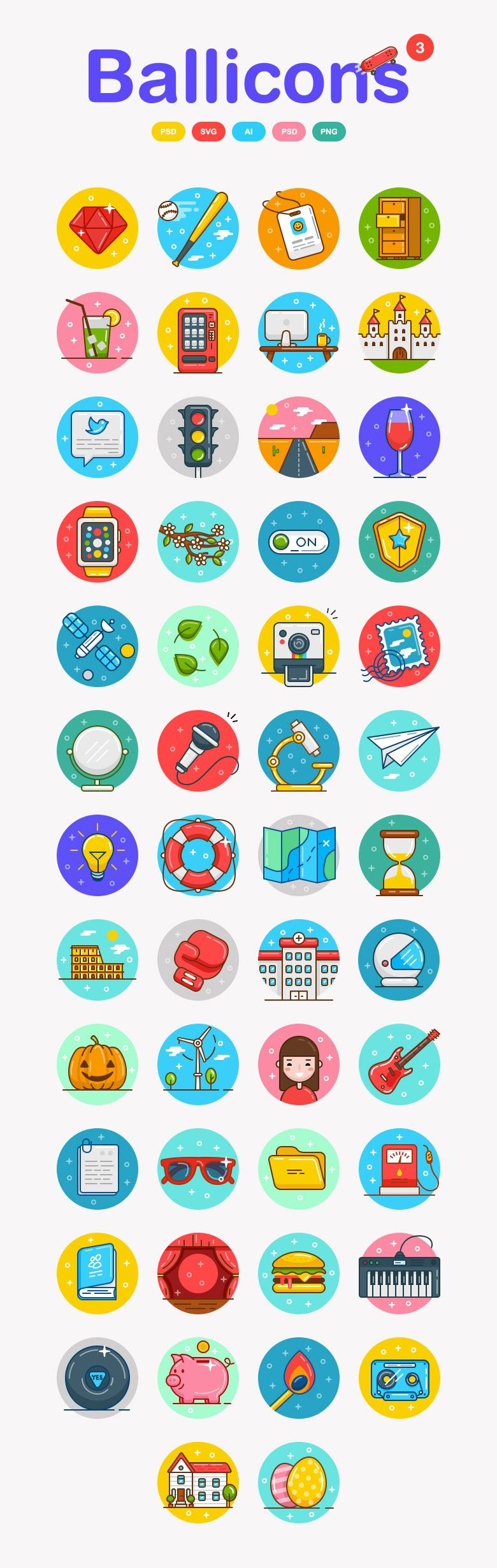 50 Icons from Ballicons 3