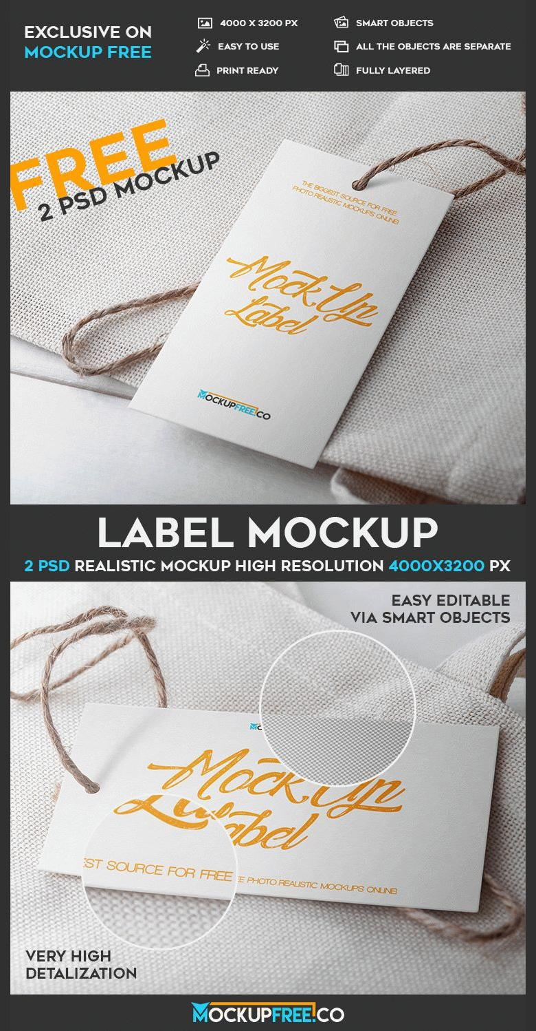 Vertical and Horizontal Label Mockups