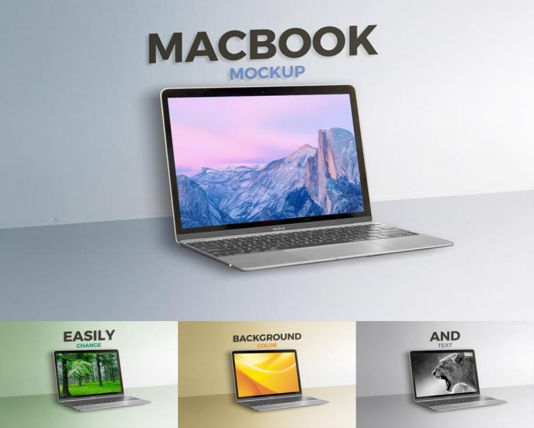 Clean Macbook Mockup