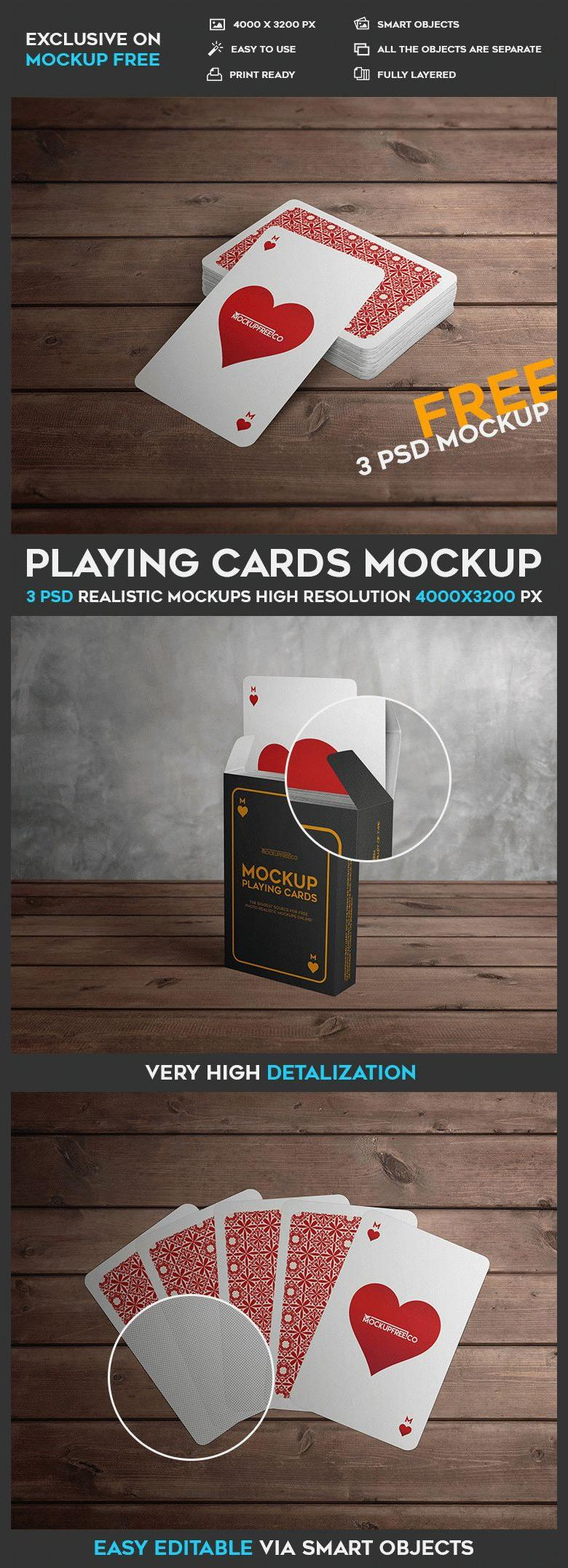 Playing Cards Mockup Set