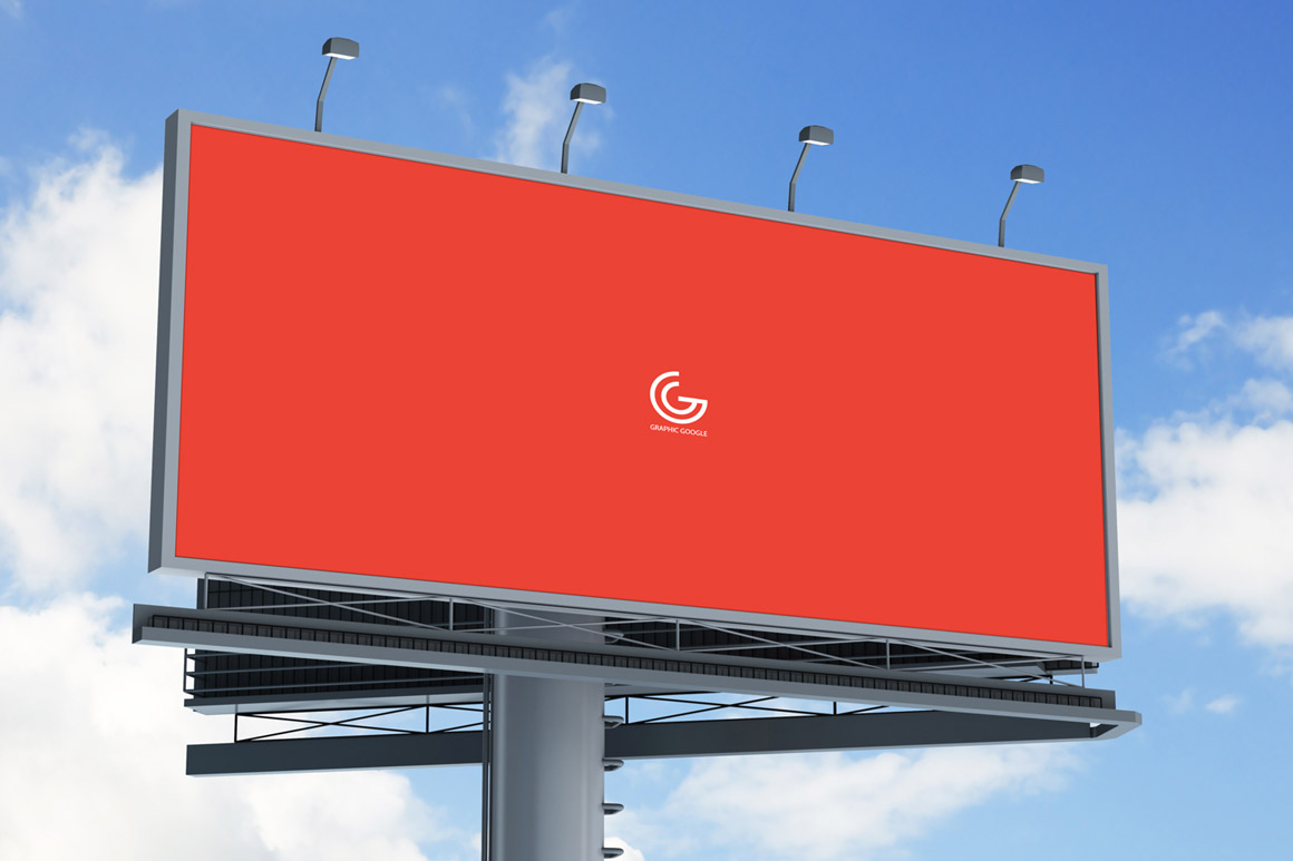 Street Advertisement Vertical Billboard Mockup | The