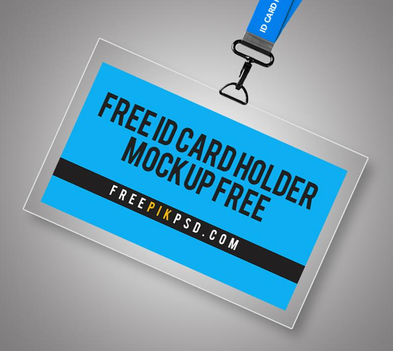 free id card badge holder mockup the creative feed